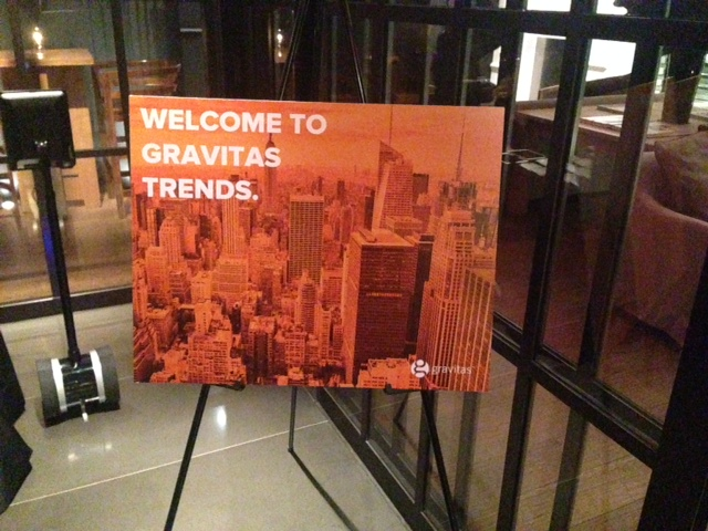 Welcome to our 9th Annual Gravitas Trends thought leadership event!  #GravitasTrends