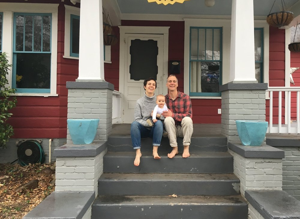 Family in front of 696 Delmar.JPG