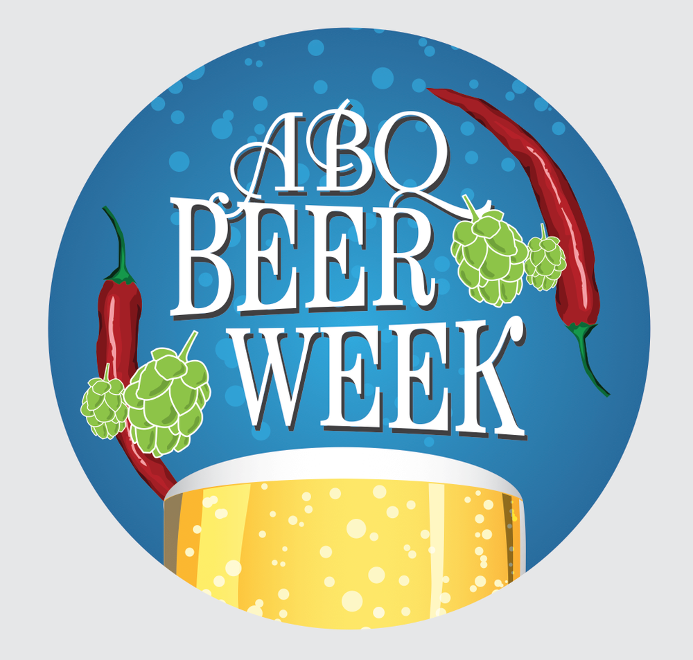 Our awesome ABQ Beer Week buttons!