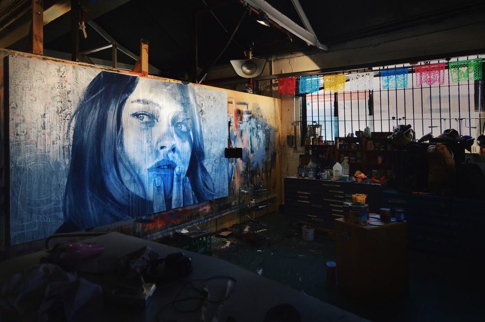 Artwork by RONE at Everfresh Studio // Melbourne, Australia // February 2015