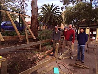 Making progress... Jo, Colin and Ivan