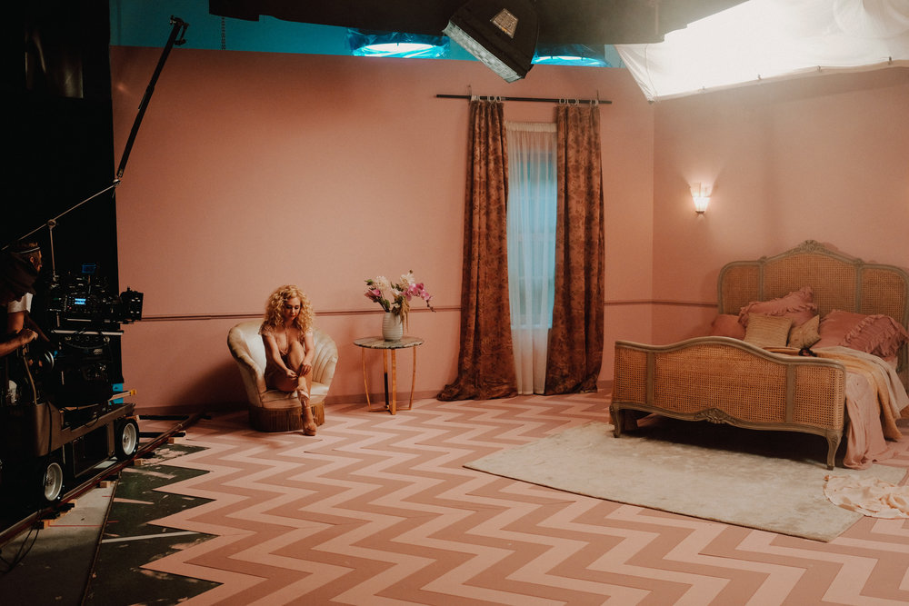 Juno Temple, Agent Provocateur behind the scenes   for Agent Provocateur
