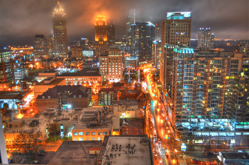 HDR of Atlanta skyline by  Mike