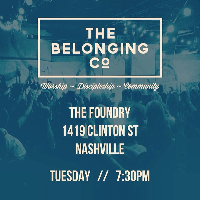 This week we are at a NEW LOCATION!  The Foundry 1419 Clinton St Nashville  Spread the word... Look forward to seeing you there!! @thebelongingco