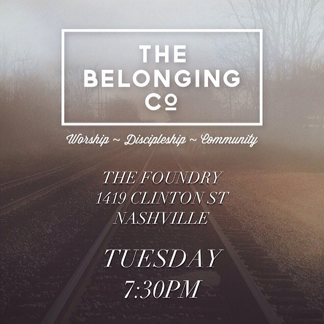 Tuesday 730PM  1419 Clinton St Nashville TN 37203  See you there!  #thebelongingco #bringafriend