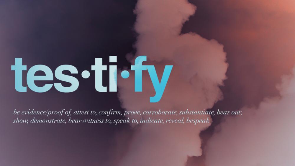 Sunday 27th November 2016 Testify