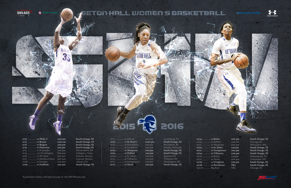 Seton Hall Women's Basketball Season Poster