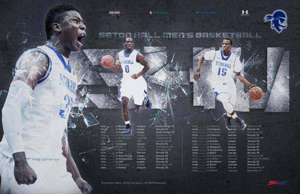Seton Hall Men's Basketball Season Poster