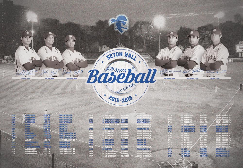 Seton Hall Baseball Season Poster