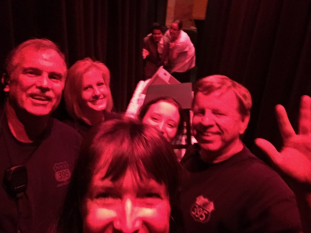 Stage Crew hams it up for a selfie during a recent show.