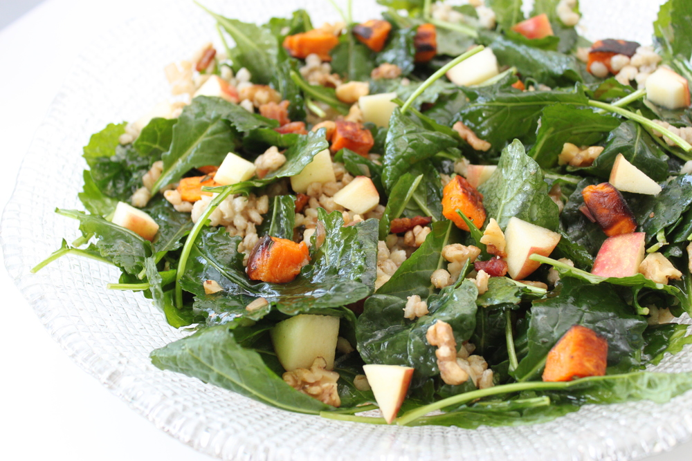 Roasted Sweet Potato + Kale Salad
