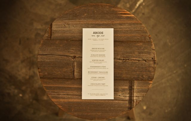 abode pop up restaurant menu