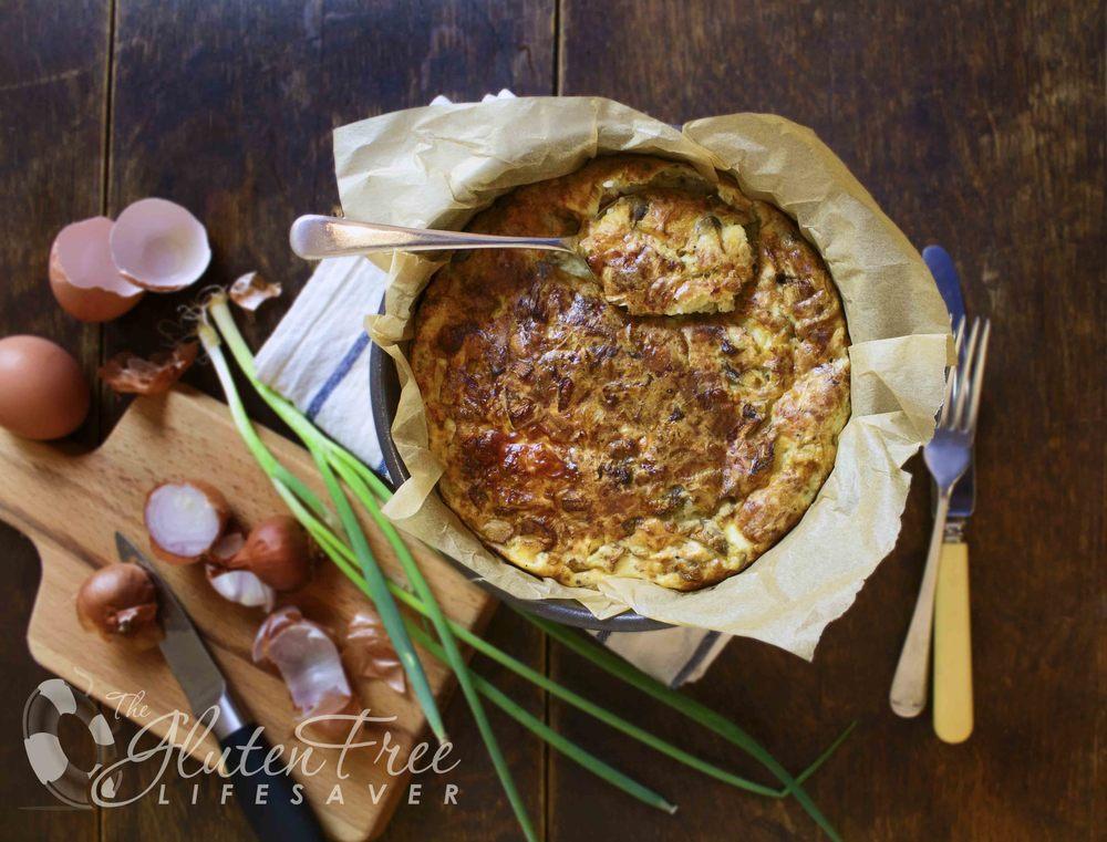 kjempeenkel glutenfri quiche med laks og fetaost
