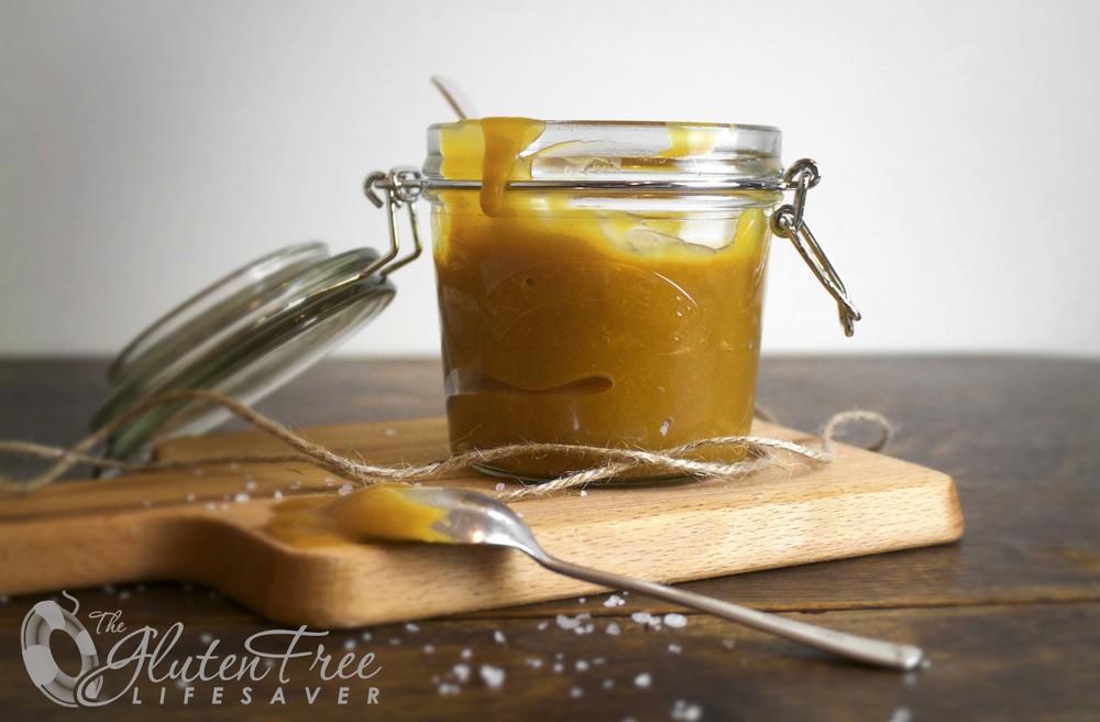 glutenfri salt karamellsaus