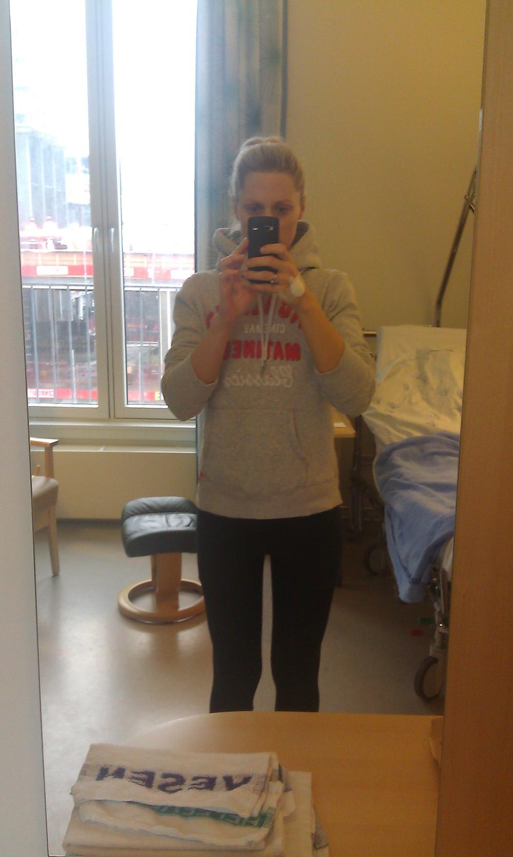 På sykehuset, da det stod på som værst