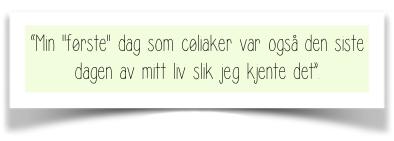 Ingvild Kristines historie om cøliaki . The Gluten Free Lifesaver