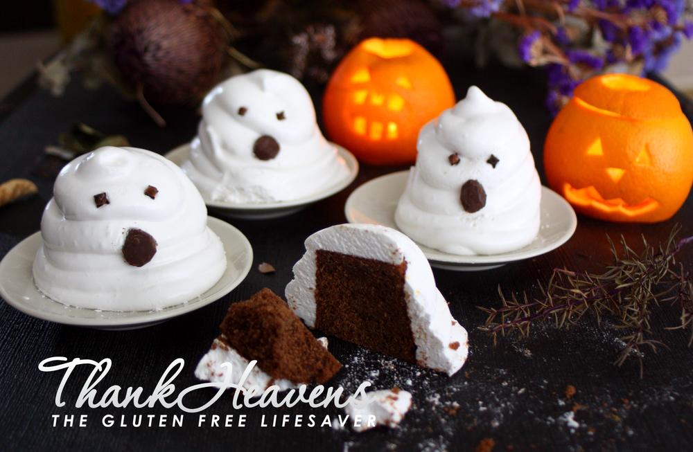 Glutenfri og melkefri spøkelsesmuffins til Halloween