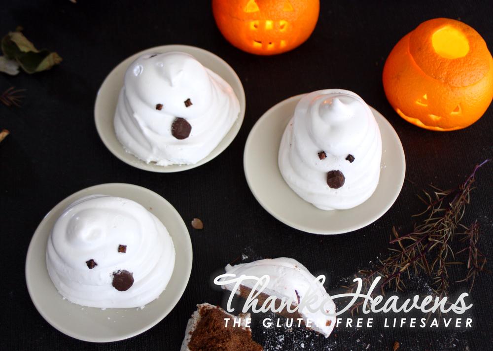 Glutenfri og melkefri muffinsspøkelser til Halloween