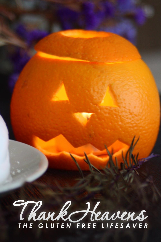 Halloween-lykter (mini-gresskar) av appelsin