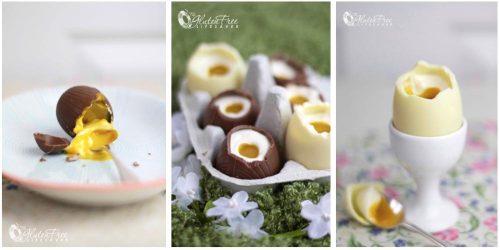 Disee deilige ostekakefylte sjokoladeeggene lager du enkelt selv!