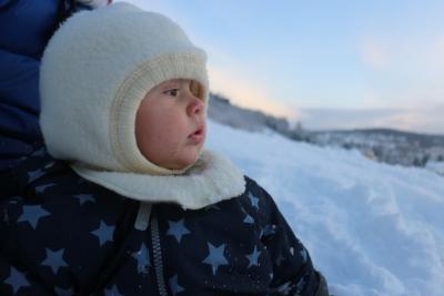 Herman elsker å være ute, og han elsker snø