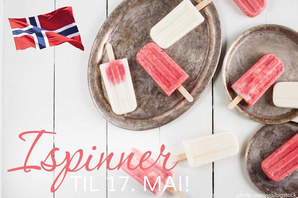 Jordbær og vaniljeispinner til 17. mai