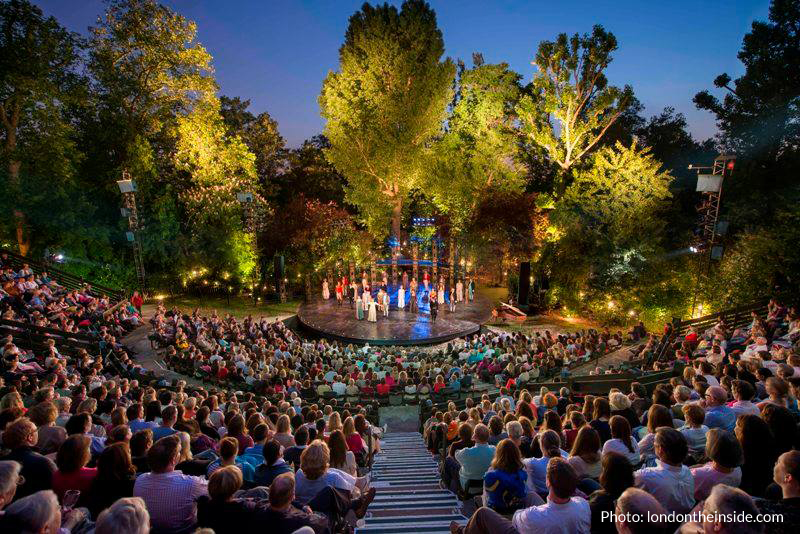glutenfri date i London på Regents Park Open Air Theatre