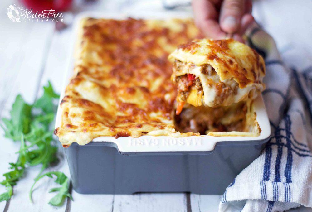 Oppskrift på glutenfri og tomatfri lasagne