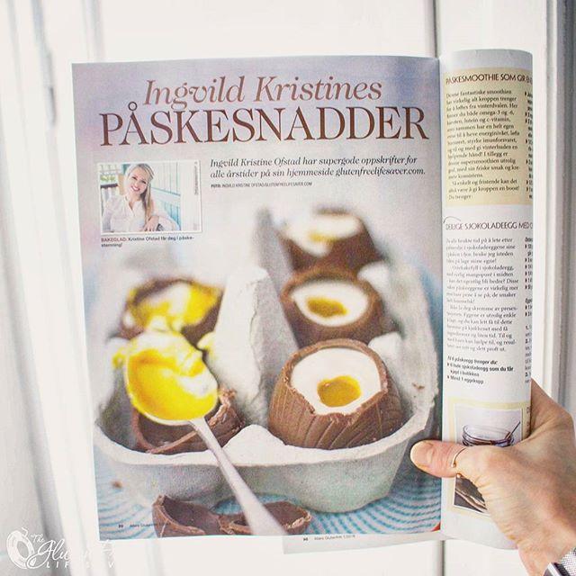 "Hooray, the latest edition of @allers_no Glutenfritt magazine is out and available in every grocery shop throughout Norway 😊 I'm happily represented with my favourite easter recipes, as well as an awesome (and important) article about coeliac disease and gluten. If you wanna see what my face looks like on print, do pick it up 😄😄 . 💥💥💥💥💥💥💥💥💥💥💥💥💥💥💥 . Hurra, da er Allers Glutenfritt i butikkhyllene igjen! Denne gangen med mine aller beste påskeoppskrifter, og ikke mist artikkelen ""10 ting alle burde vite om gluten""! Gled deg til et fantastisk nummer med masse deilig mat! Løp og kjøp 😊😊😙😙"