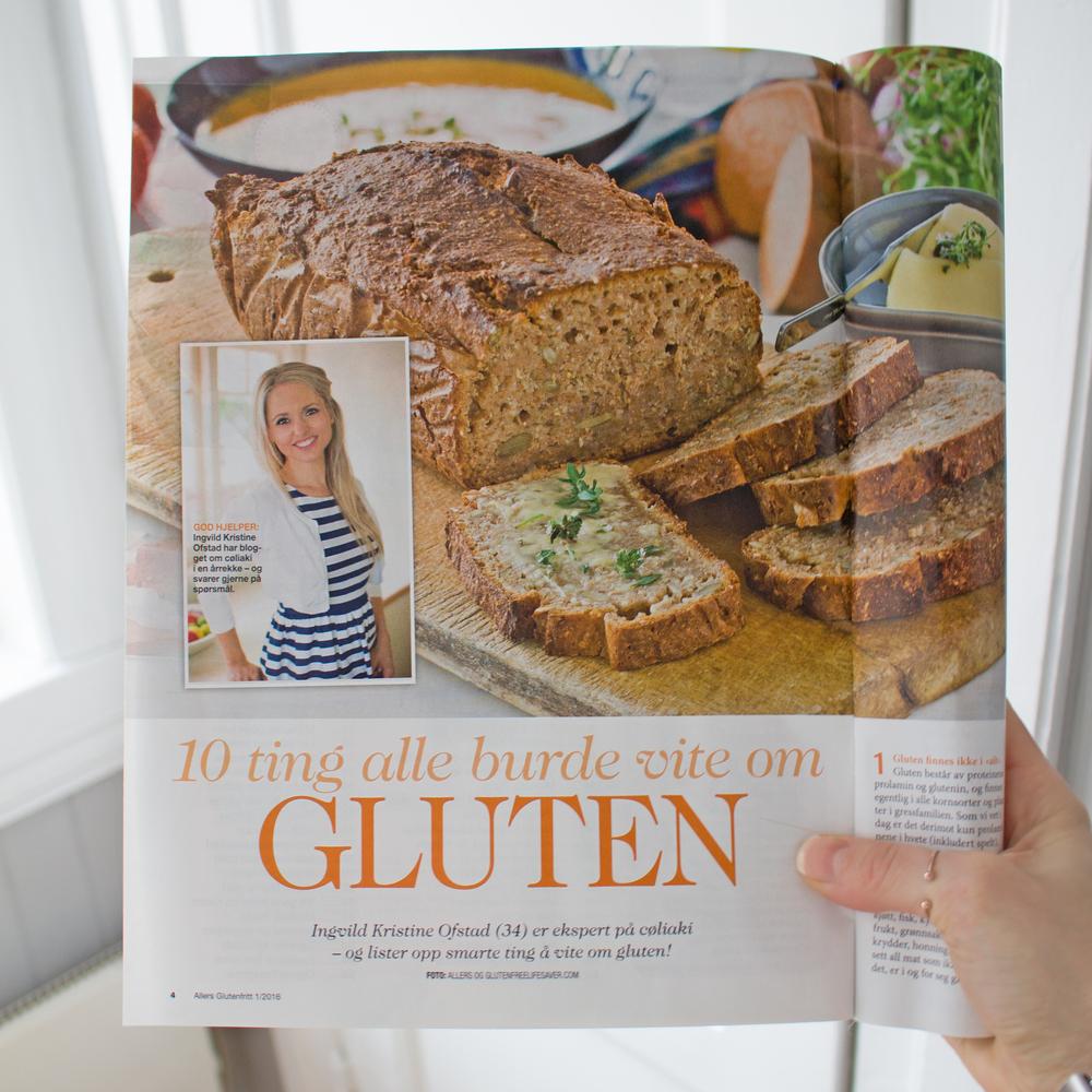 Artikkel i Allers Glutenfritt