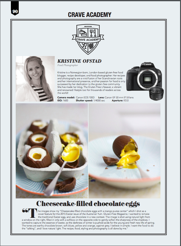 Food photographer of the month, Crave Magazine Hong Kong