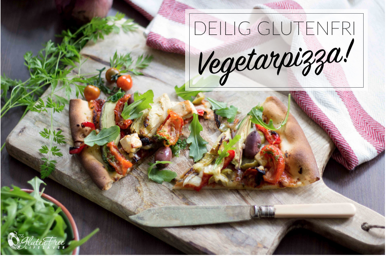 Deilig glutenfri vegetar pizza
