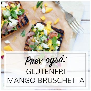 Glutenfri Mango Bruschetta