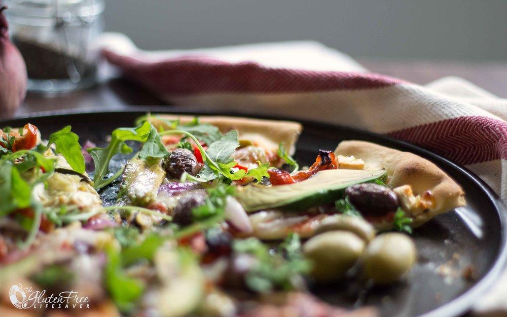 Deilig glutenfri vegetar-pizza
