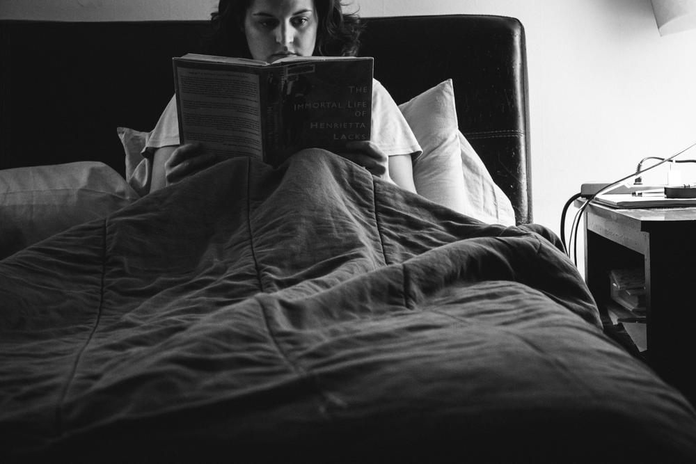 #selfportraitsaturday Week 2 Reading The Immortal Life of Henrietta Lacks