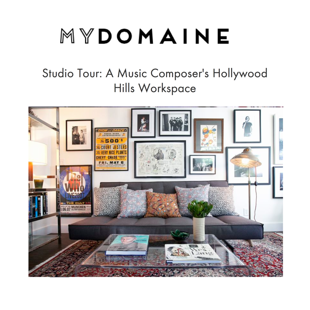 "MY DOMAINE: STUDIO TOUR<a href=""/area-of-your-site""></a>"