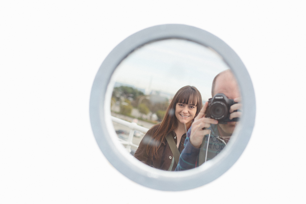 Queen Mary Cool Porthole Reflection Portrait