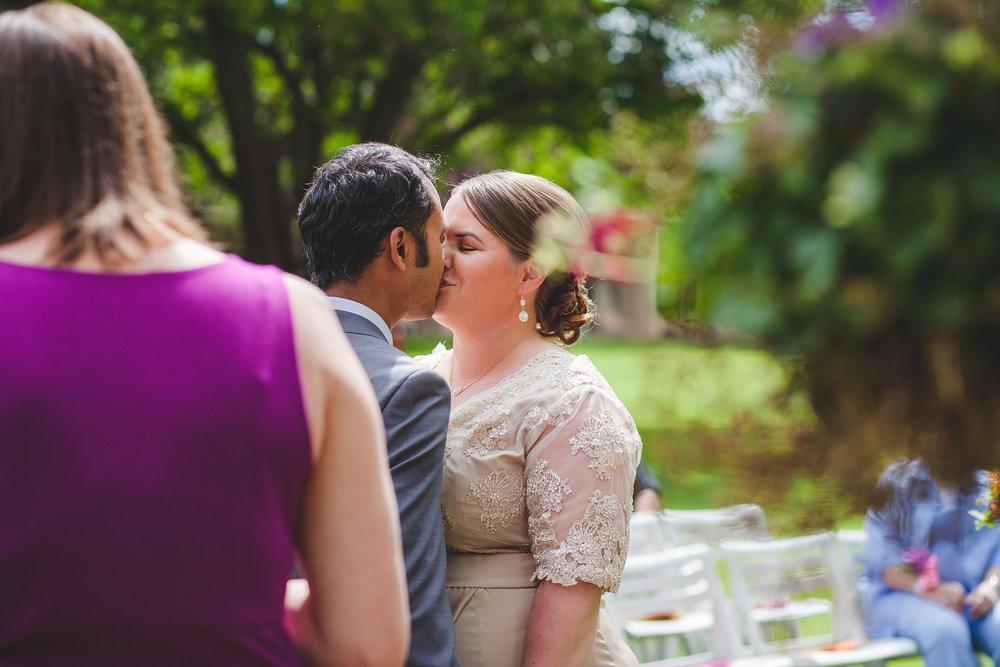 jessica-karthik-sedona-wedding-first-kiss