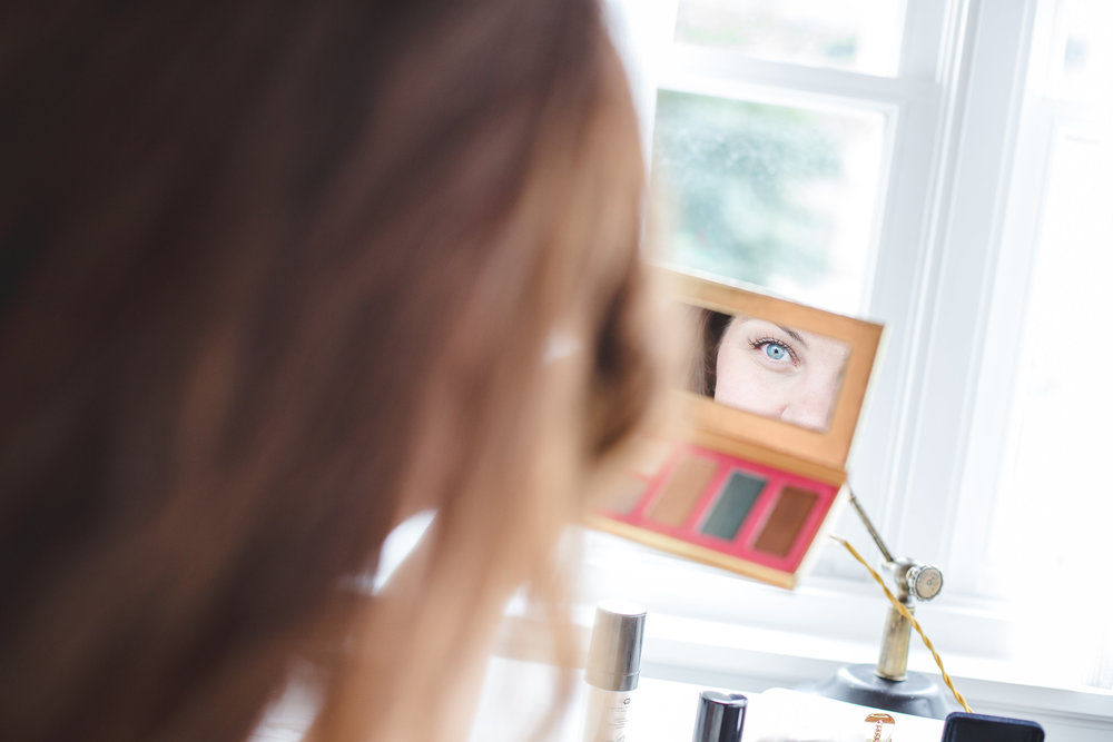 shot-of-brides-eye-in-mirror