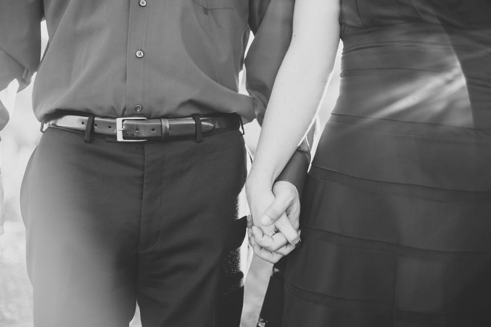 jen-john-engagement-holding-hands-bw