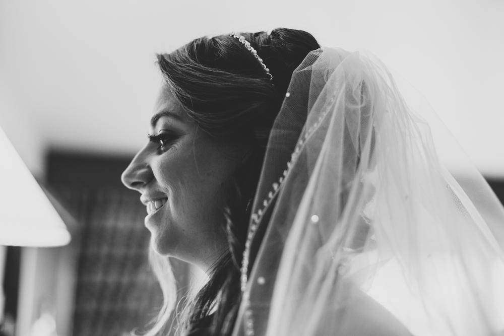 lori bride smiles getting ready