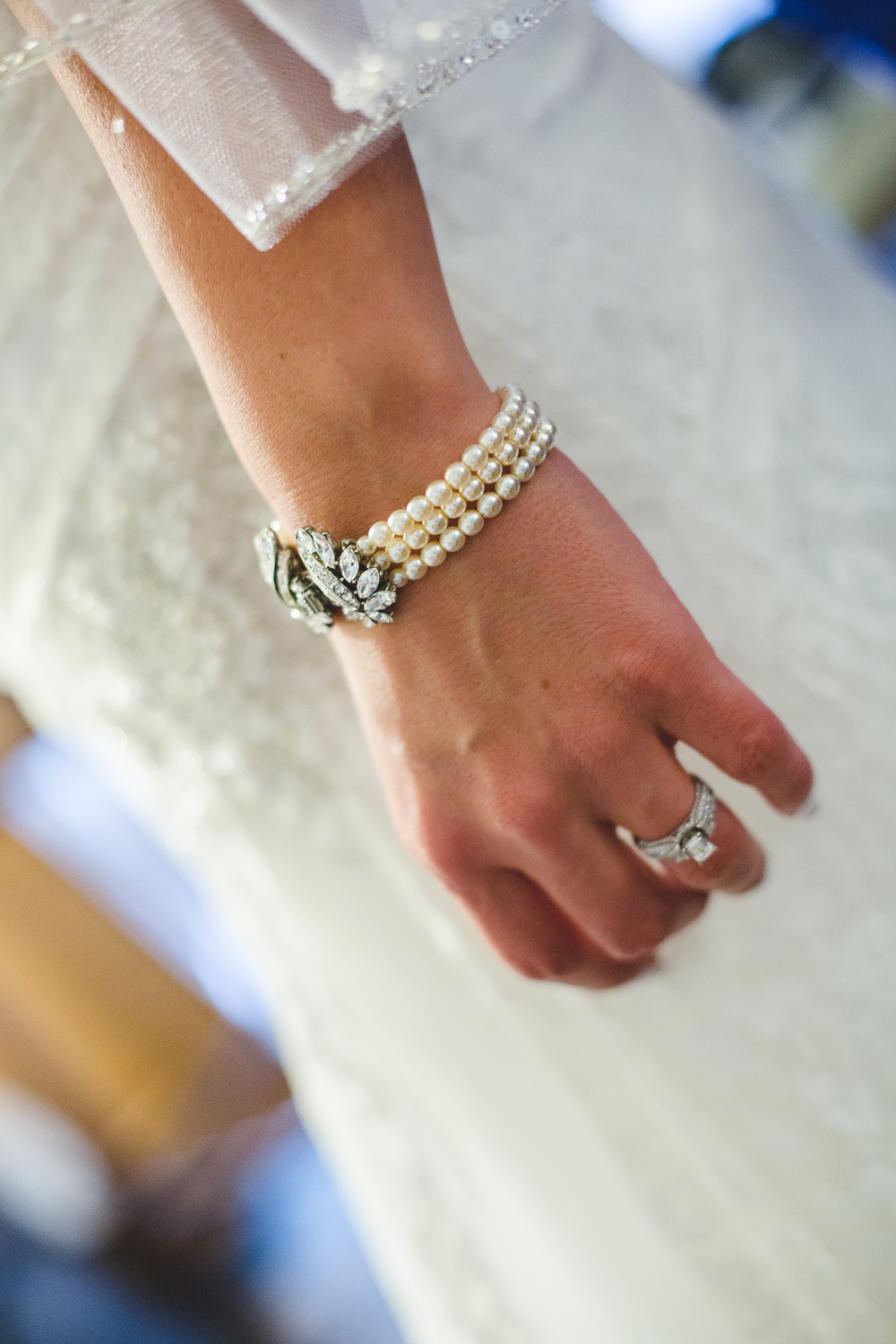 beautiful bridal bracelet and ring
