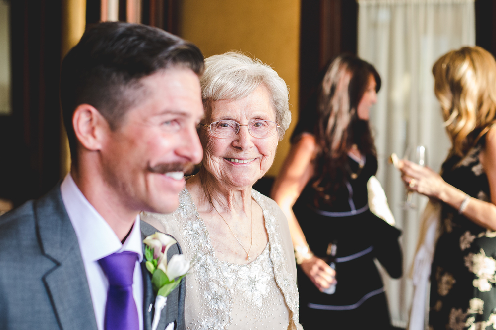 chad groom takes grandmother out to ceremony