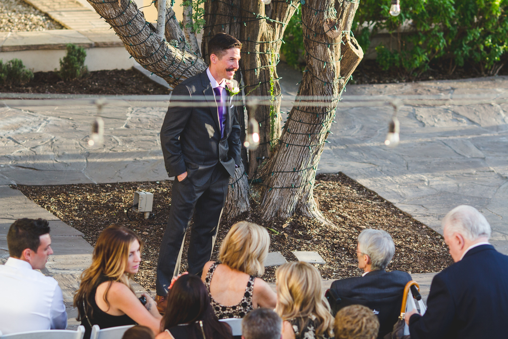 chad groom waits for wedding to start