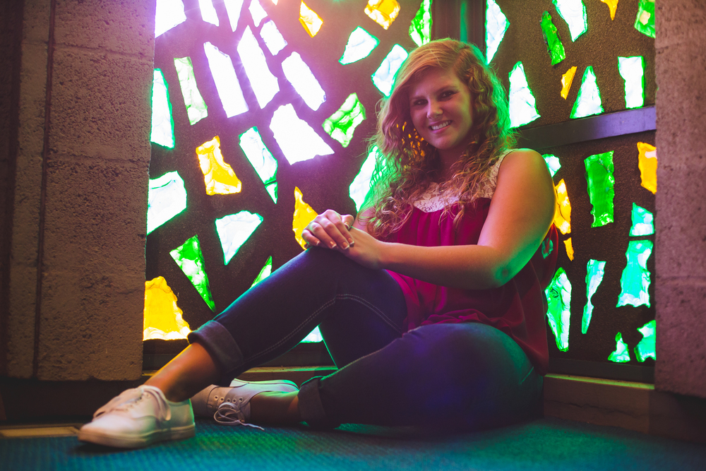 Cool Stained Glass Shot Senior Photography Phoenix Marissa