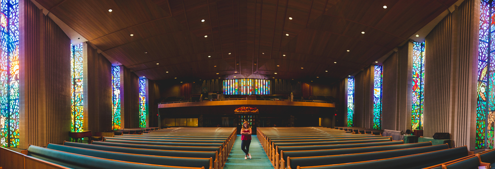 Awesome Church Panorama Stained Glass Shot Senior Photography
