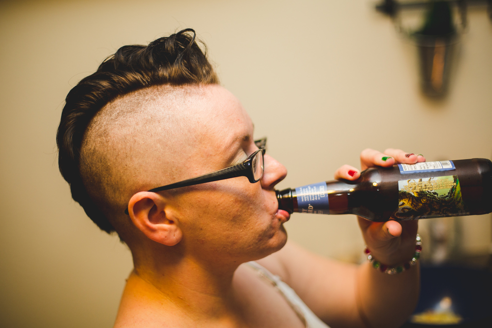 jens drinks cider like a badass