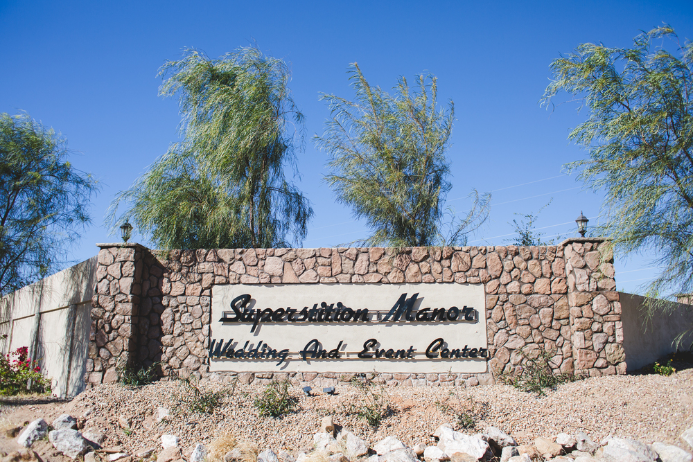 superstition manor sign