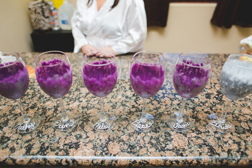 bride bridesmaids toast glasses getting ready mj
