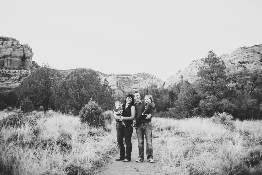 bw ball family photo shoot sedona standing